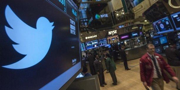 Vers 22h30 GMT, l'action Twitter s'envolait à 49,95 dollars, soit une hausse de 29,44% dans les échanges électroniques suivant la clôture de Wall Street. (Photo : Reuters)