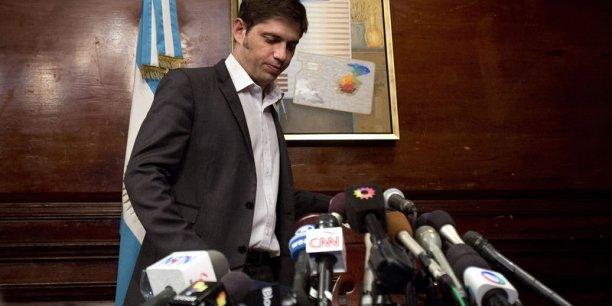 Le ministre de l'Économie a attribué la responsabilité de cette situation inédite au juge Griesa. L'Argentine a payé, elle a de l'argent, elle va continuer à payer. C'est le juge Griesa le responsable, a-t-il martelé en référence à l'argent bloqué par le magistrat. (Photo : Reuters)