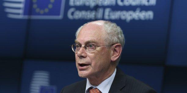 Le Conseil européen a annoncé jeudi les sanctions économiques adoptées contre la Russie. /Reuters.
