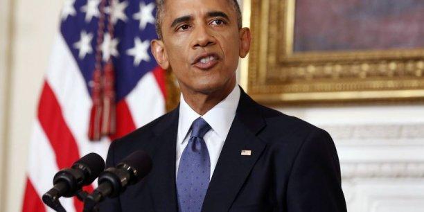 Nous allons être vigilants et prendre des mesures si (les jihadistes) menacent nos installations n'importe où en Irak, a déclaré le président américain jeudi soir.