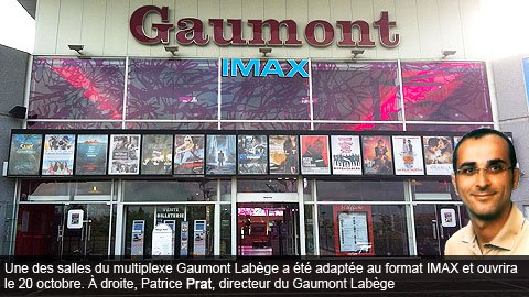 l 39 imax s 39 installe au gaumont lab ge. Black Bedroom Furniture Sets. Home Design Ideas