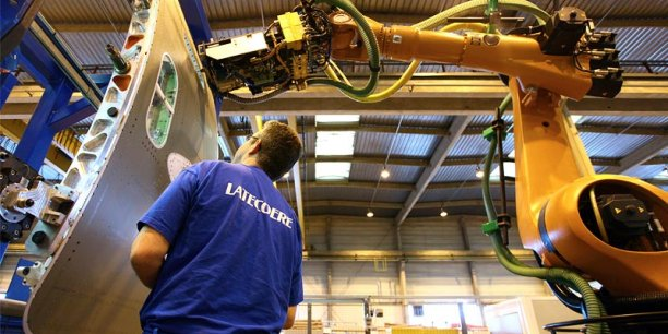 Latécoère est un équipementier aéronautique de rang 1. 57 % de son chiffre d'affaires est issu des tronçons de fuselages et portes d'avions.