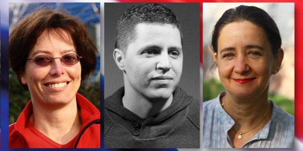 Sandra Torremocha, Ahmed Chouki et Élisabeth Belaubre