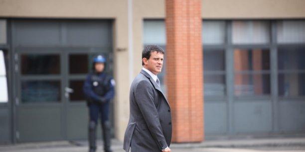 Manuel Valls lors d'un déplacement à Toulouse