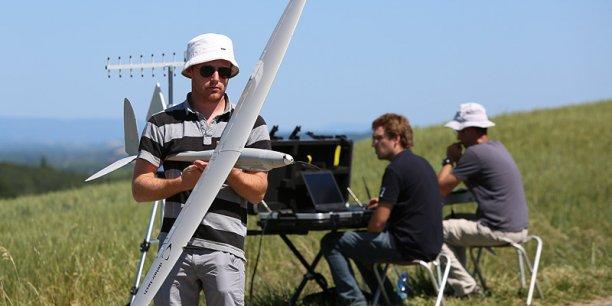 Démonstration de drones par Delair-Tech