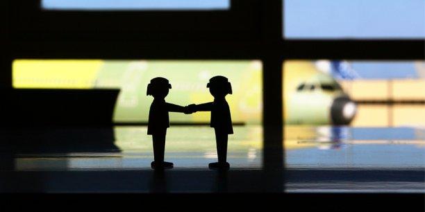 15 000 rendez-vous d'affaires se tiendront au prochain salon Aeromart, du 4 au 6 décembre à Toulouse (Crédit : Rémi Benoit).