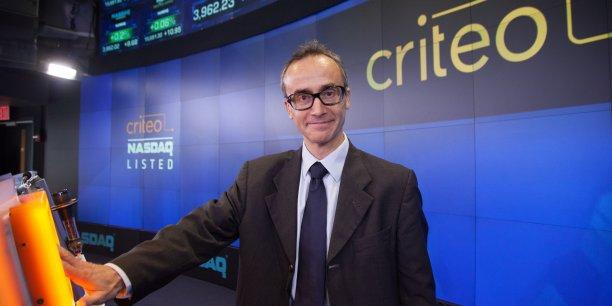 Jean-Baptiste Rudelle, le directeur général et cofondateur de Criteo, lors de l'introduction au Nasdaq en octobre 2013.