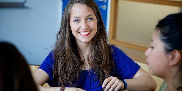 Une étudiante de l'IAE de Lyon.