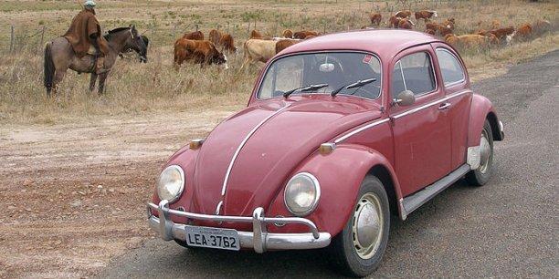 Une Volkswagen Coccinelle produite au Brésil