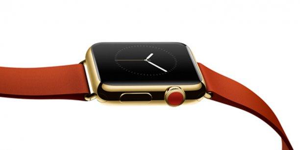 L'Apple Watch, dernière innovation de la marque à la pomme, est une montre connectée capable de donner l'heure, mais également les SMS, la météo, recevoir des appels...