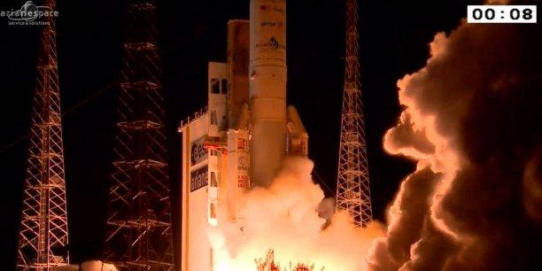 3,2,1... Mise à feu par les ministres en charge de l'espace à Luxembourg d'Ariane 6, qui va succéder à Ariane 5