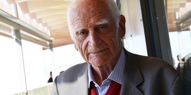Michel Serres, philosophe et Académicien lot-et-garonnais, en septembre 2014 à Bordeaux