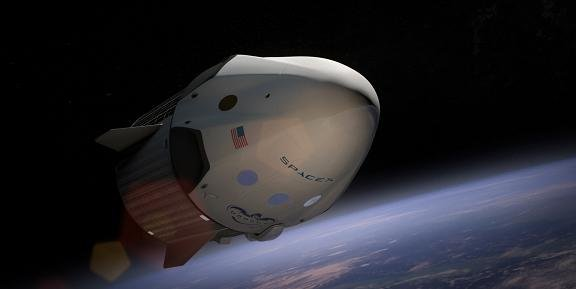 Le lanceur Falcon 9 de SpaceX embarquera la capsule Dragon V2 (illustration) pour ravitailler la station spatiale internationale (ISS). Credit SpaceX
