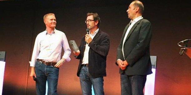 Les fondateurs d'App's Miles, François Le Tanneur et Laurent Sebag, ici primés lors du dernier salon E-commerce Paris, sont en lice pour le Tour de France Digitale