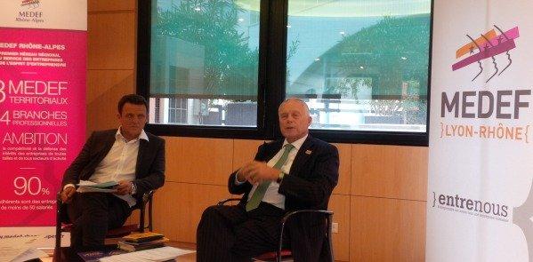 Laurent Fiard, Président du Medef Rhône-Lyon et Bernard Gaud, président du Medef Rhône-Alpes