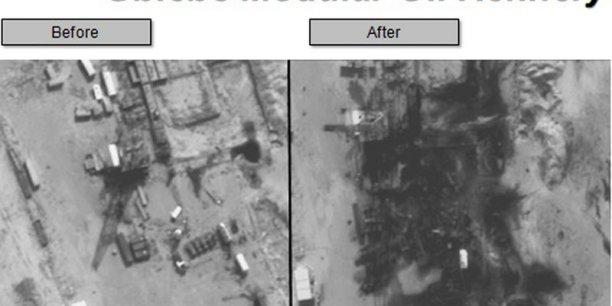L'Etat islamique visé au portefeuille par les frappes aériennes sur les raffineries