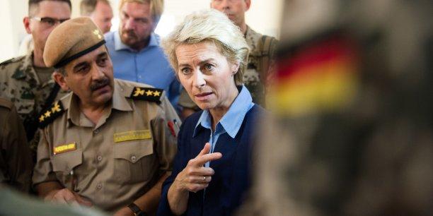 La ministre de la Défense allemande était en visite dans le nord de l'Irak jeudi 25 septembre.