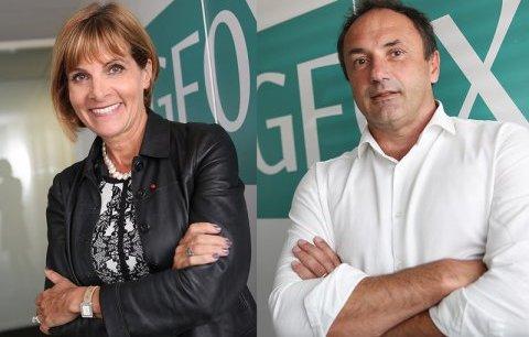 Anne Lauvergeon et Ludovic Le Moan, respectivement présidente du conseil et directeur général de Sigfox.