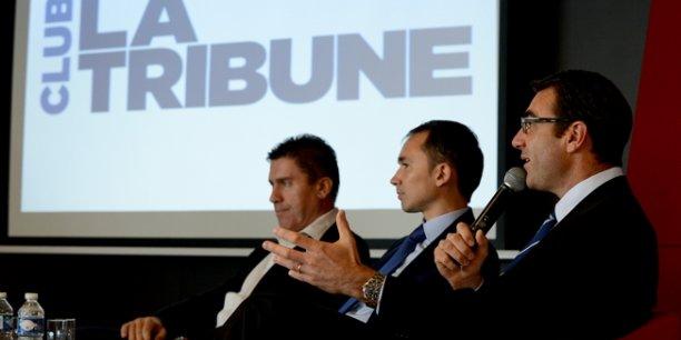 Sébastien Blot (BPI), Xavier Fichau (ERDF) et Sébastien Romefort (Peugeot) ont insisté sur la nécessité de nouer des partenariats entre entreprises.