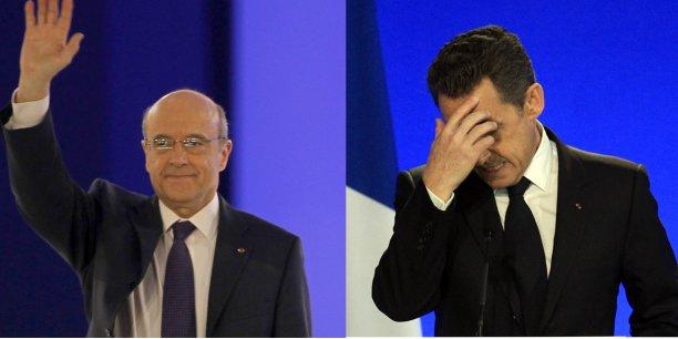 L'enquête montre que l'écart entre Alain Juppé et Nicolas Sarkozy se réduit.