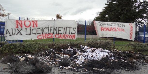 Depuis le mois d'octobre, les salariés de l'entreprise Canson restent mobilisés.