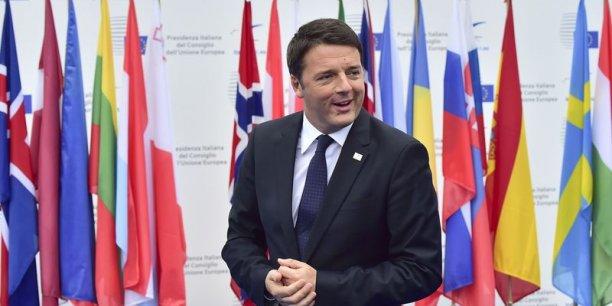 Matteo Renzi milite pour une baisse de l'euro pour relancer l'économie européenne.