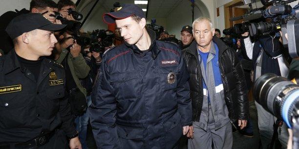 Le conducteur du chasse-neige, Vladimir Martynenko (ici à droite), avait été placé en détention provisoire dès le début de l'enquête.
