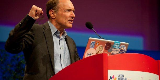 Tim Berners-Lee lors de la www2012 à Lyon.