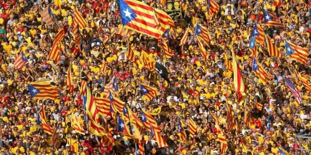 Manifestation indépendantiste à Barcelone.