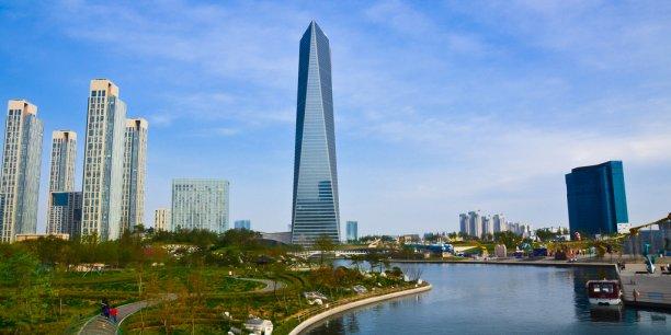 La ville de Songdo en Corée du Sud.