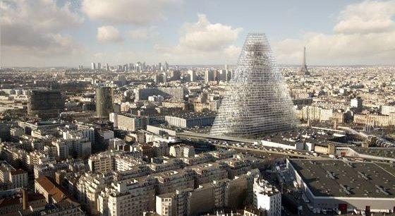 L'édifice de 180 mètres de haut et 42 étages est signé des architectes suisses Herzog et de Meuron.
