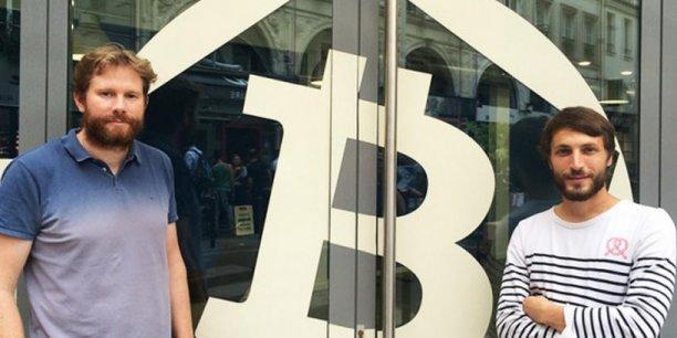 Eric Larchevêque et Thomas France, les deux fondateurs de la maison du Bitcoin qui a ouvert ses portes dans le centre de Paris en mai 2014