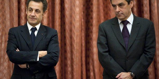 En trente ans, mon nom n'a jamais été associé à une affaire ou un comportement contraire à l'éthique, a affirmé au JDD l'ancien Premier ministre François Fillon. (Ici en 2009 aux côté de Nicolas Sarkozy)