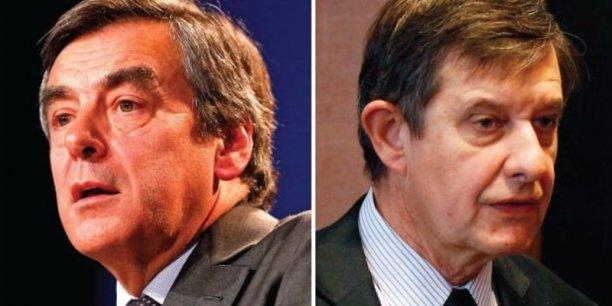 François Fillon (à gauche) dément avoir demandé au gouvernement, par l'entremise de Jean-Pierre Jouyet, d'accentuer la pression judiciaire sur Nicolas Sarkozy.