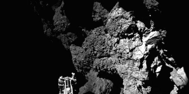 Philae arrimé sur la comète Churyumov-Gerasimenko