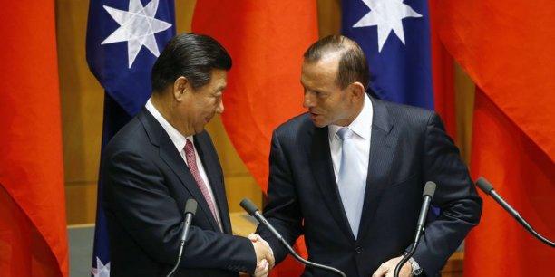 Le président chinois Xi Jinping et le premier ministre australien Tony Abbott