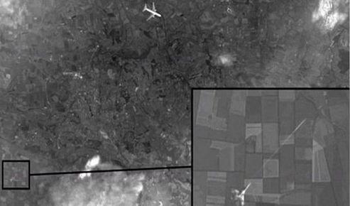Le site d'investigation belingcat estime que l'image diffusée par la chaîne de télévision russe a été réalisée à l'aide d'assemblages de cartes Google Earth.