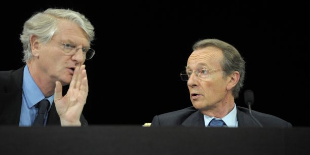 Baudouin Prot (successeur de Michel Pébereau, à droite) doit quitter ses fonctions de président de BNP Paribas le 1er décembre 2014.