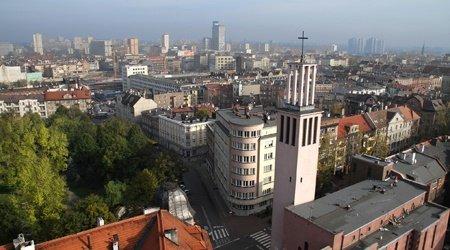 Katowice, capitale de la voïvodie de Haute-Silésie.