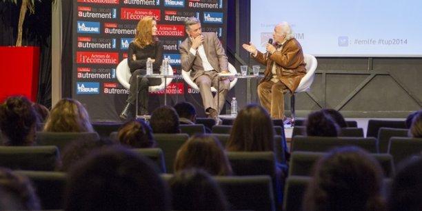 Emmanuelle Duez et Robert Misrahi les deux intervenants de cette conférence.