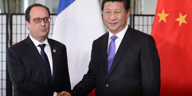 En marge du G20 qui se tenait à Brisbane (Australie) le 16 novembre 2014, rencontre bilatérale entre le président de la Chine Xi Jinping et le président de la France François Hollande. Au cours du G20 de Brisbane, les discussions ont été dominées par les sujets de la crise en Ukraine, le changement climatique et la gestion de la zone Asie-Pacifique.