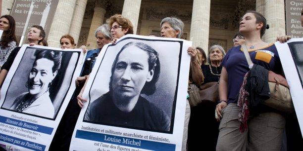 Manifestation en 2013 pour l'entrée de femmes célèbres au Panthéon