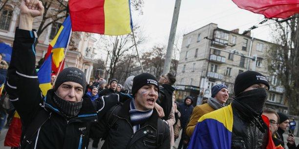 Une manifestation à Chisinau en faveur de l'unification du pays avec la Roumanie le 1er décembre 2014.