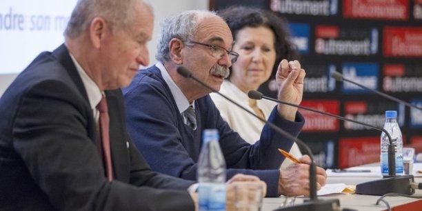 Eric de Montgolfier, Michel Wieviorka et Martine le Boulaire étaient les intervenants de cette conférence.