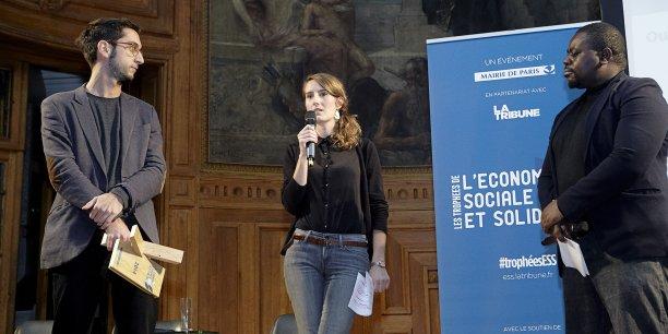 Jeudi soir dernier, lors de la remise des Trophées de l'ESS, à Paris.