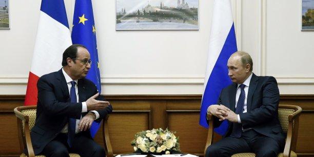 Nous n'avons même pas évoqué le sujet (des Mistral), a déclaré Vladimir Poutine.