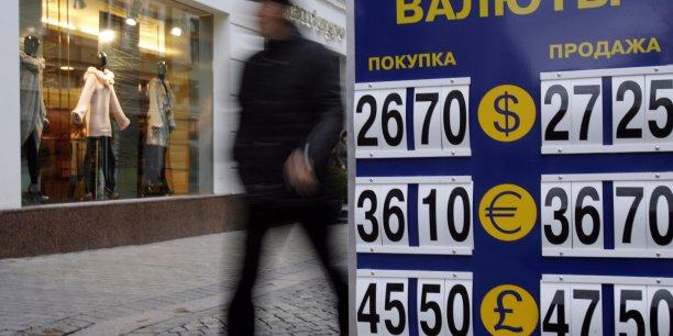 Le rouble a perdu le tiers de sa valeur depuis le début de l'année face à l'euro et 40% face au dollar.