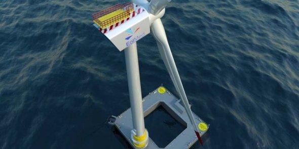 EolMed est un projet d'éolien offshore flottant porté par Quadran et Ideol, qui pourrait d'ici 2020 s'installer au large des côtes languedociennes