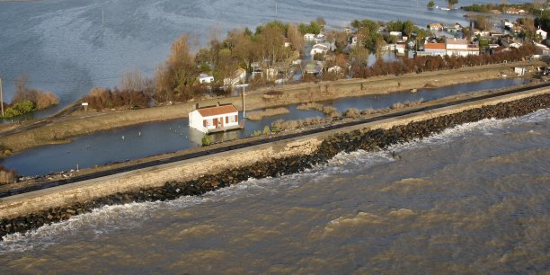 La Faute-sur-Mer après les inondations.