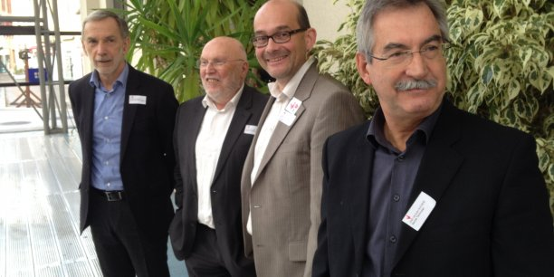 Dominique Favario, Jean-Pierre Verjus, Patrick Émin et Jean-Jacques Duchêne ont invité les acteurs du numérique à tirer parti de la labellisation de Digital Grenoble.